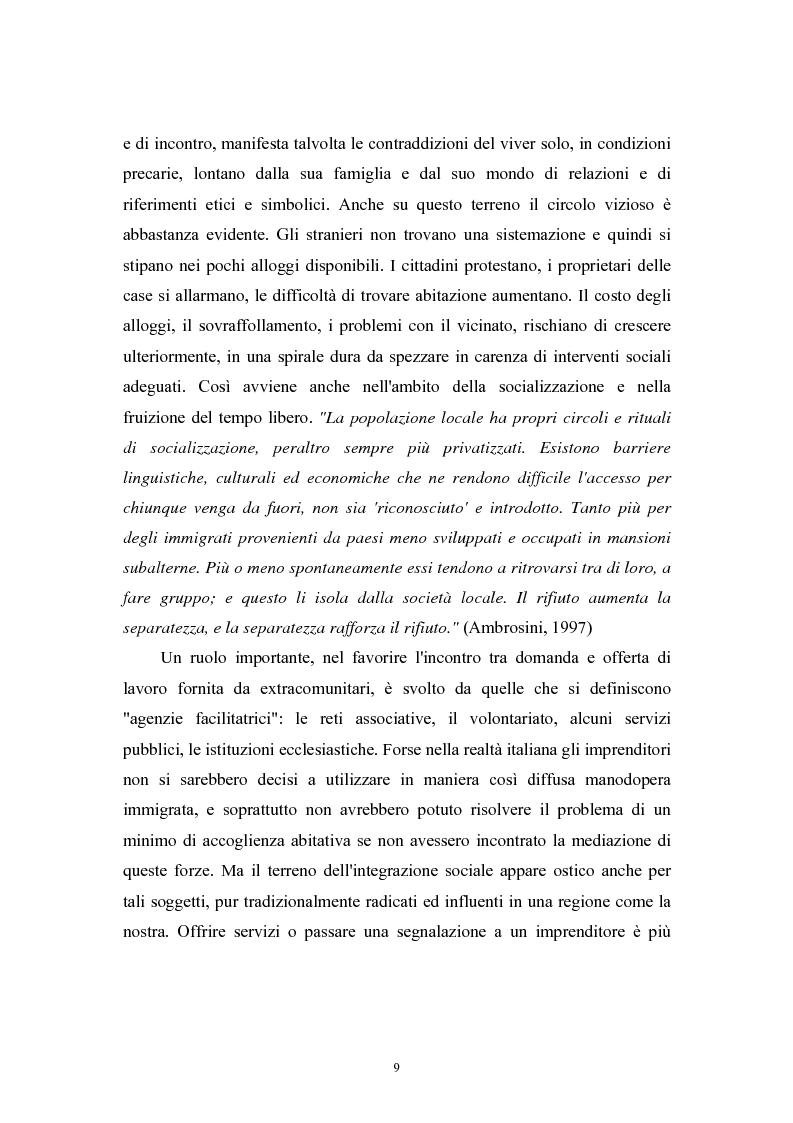 Anteprima della tesi: Immigrazione extracomunitaria e lavoro in Veneto: il caso del comune di Oderzo, Pagina 5