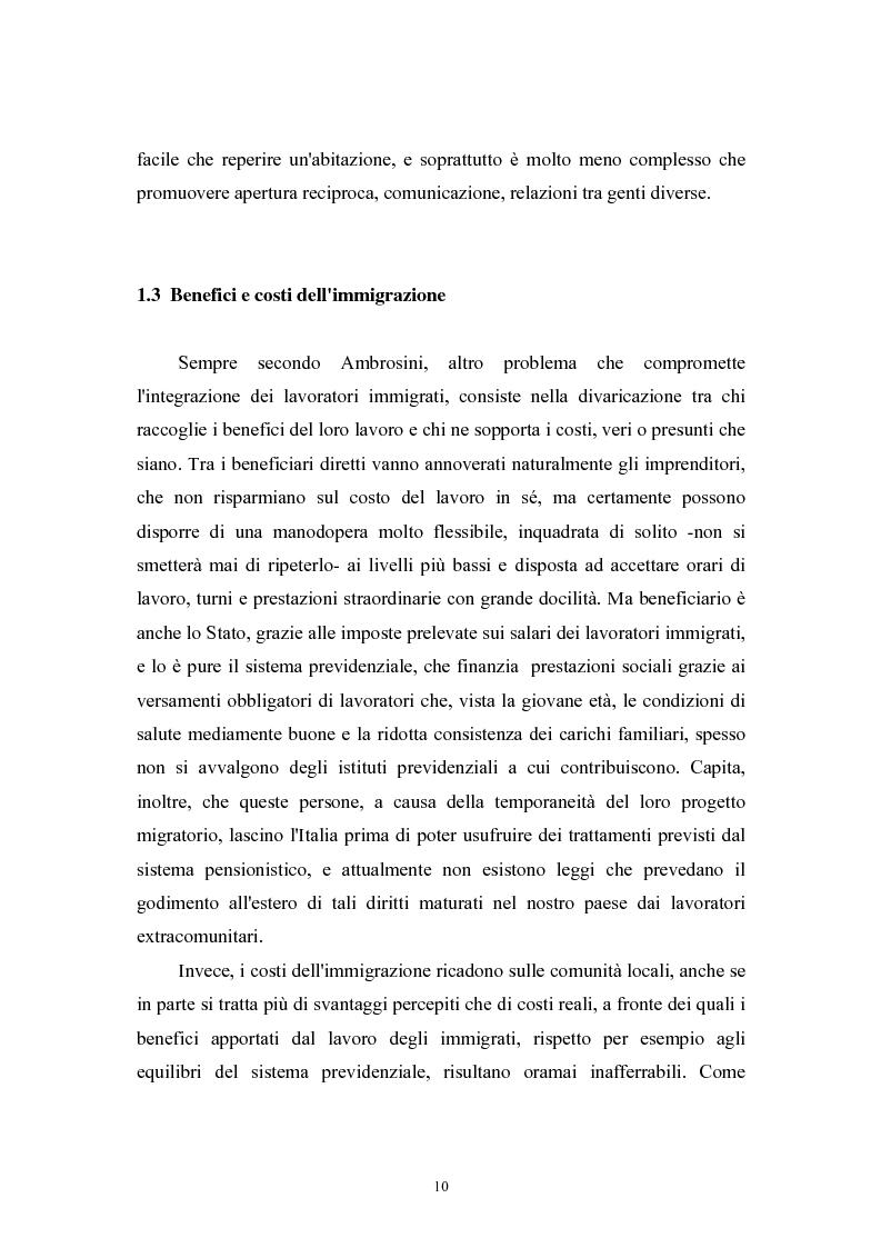 Anteprima della tesi: Immigrazione extracomunitaria e lavoro in Veneto: il caso del comune di Oderzo, Pagina 6