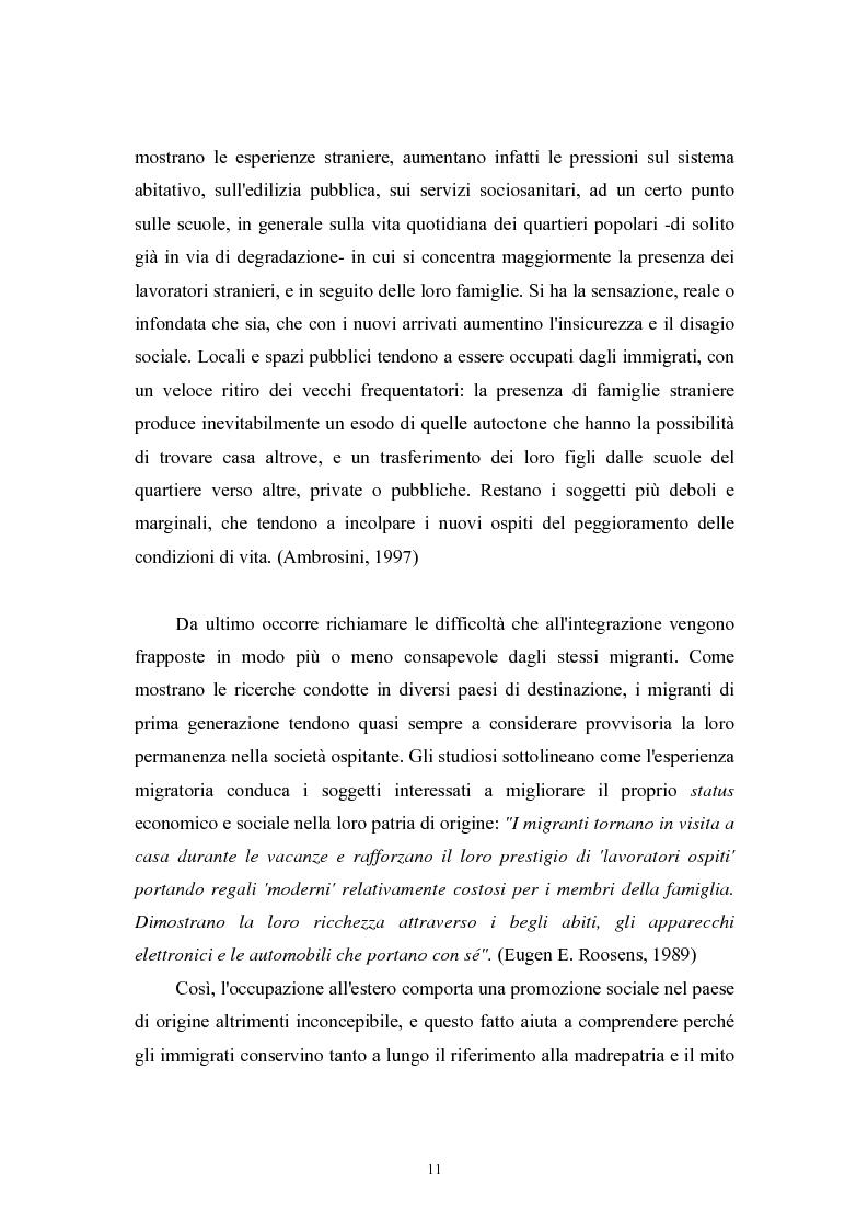 Anteprima della tesi: Immigrazione extracomunitaria e lavoro in Veneto: il caso del comune di Oderzo, Pagina 7