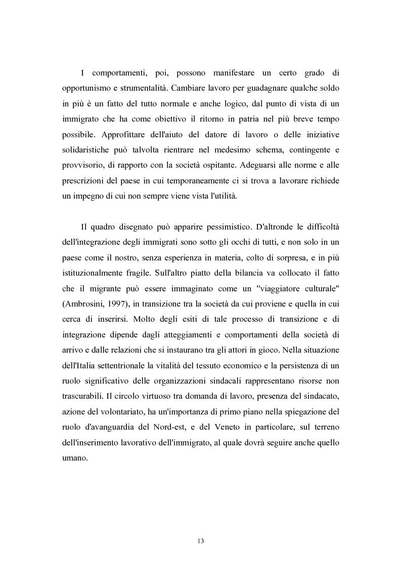 Anteprima della tesi: Immigrazione extracomunitaria e lavoro in Veneto: il caso del comune di Oderzo, Pagina 9