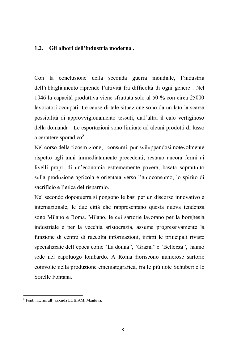 Anteprima della tesi: Qualità e delocalizzazione nella società che cambia il caso LUBIAM, Pagina 6