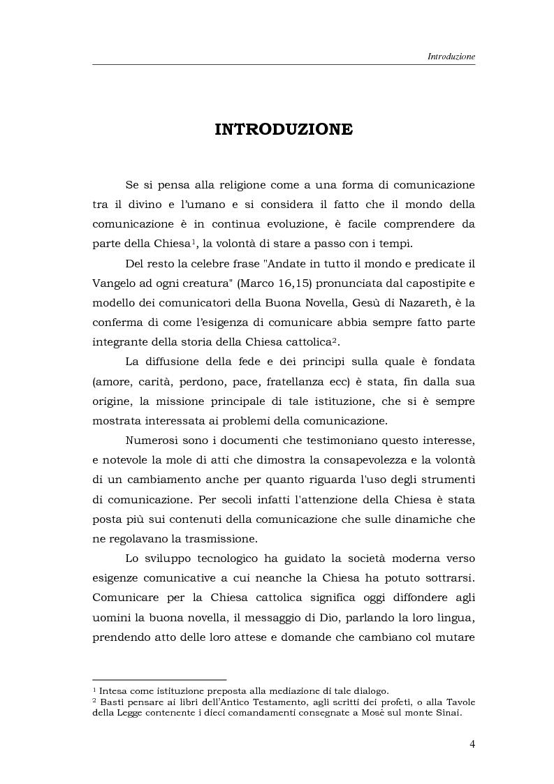 Anteprima della tesi: I media della Chiesa italiana, Pagina 1