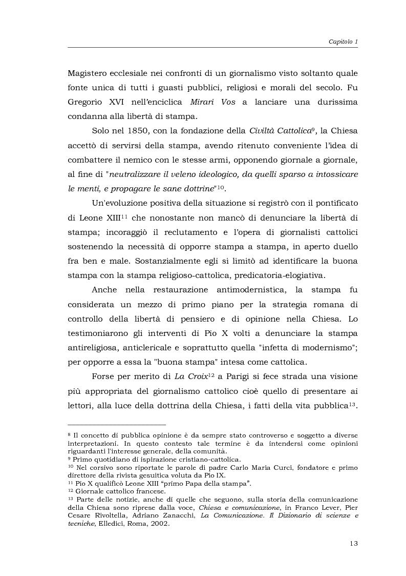 Anteprima della tesi: I media della Chiesa italiana, Pagina 10