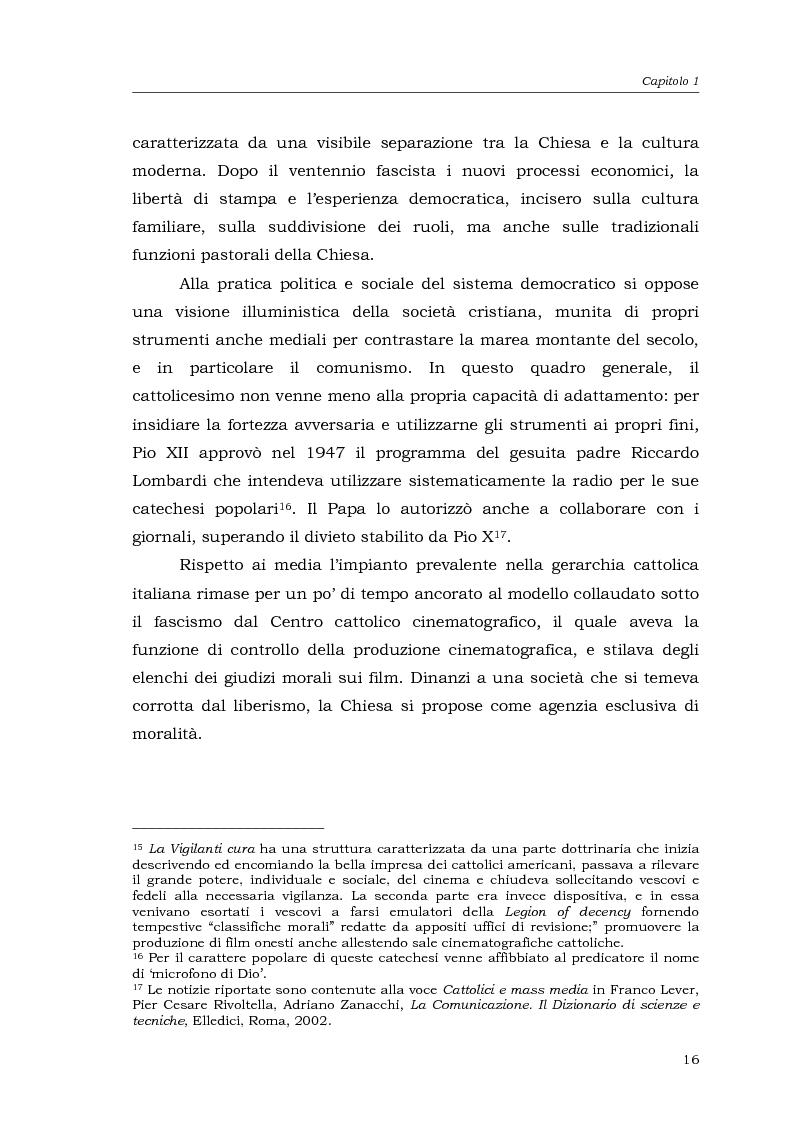 Anteprima della tesi: I media della Chiesa italiana, Pagina 13