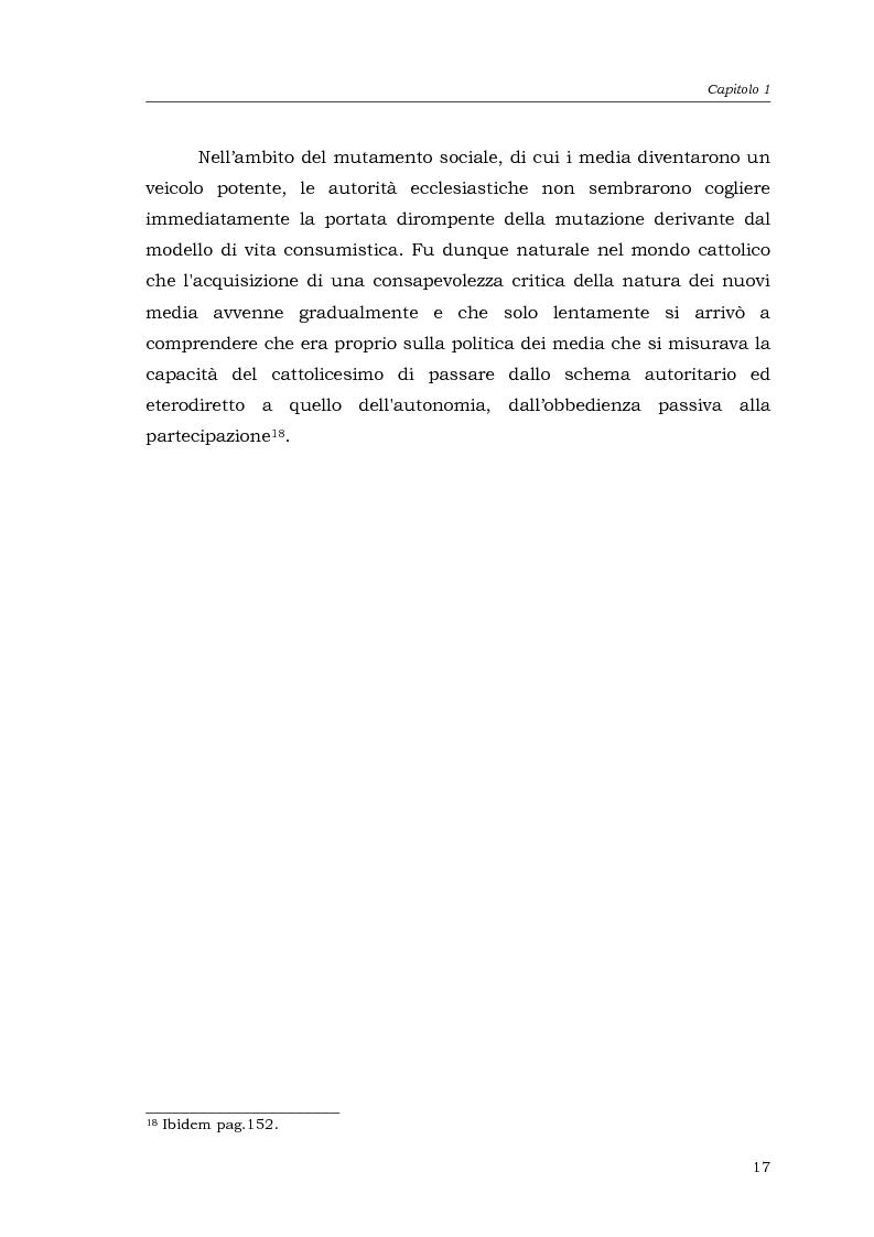 Anteprima della tesi: I media della Chiesa italiana, Pagina 14