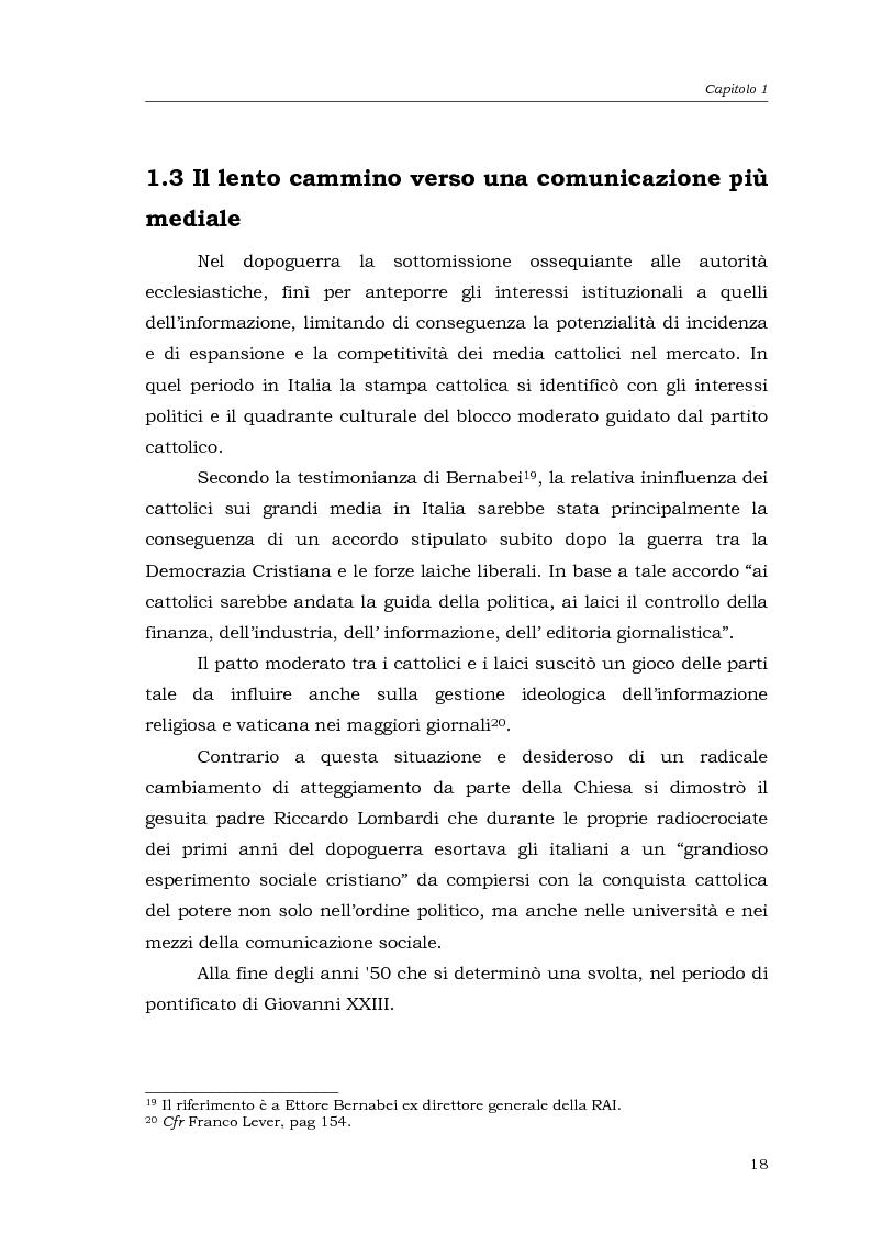 Anteprima della tesi: I media della Chiesa italiana, Pagina 15
