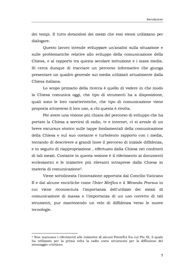 Anteprima della tesi: I media della Chiesa italiana, Pagina 2