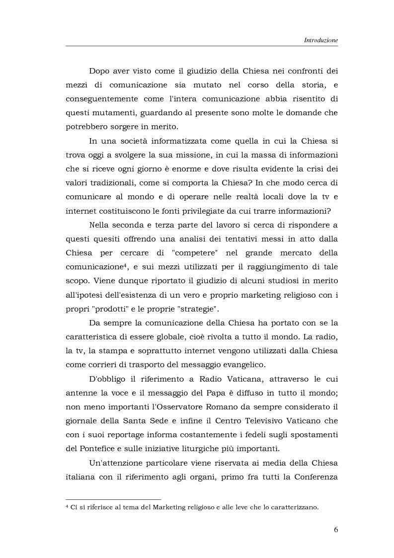 Anteprima della tesi: I media della Chiesa italiana, Pagina 3