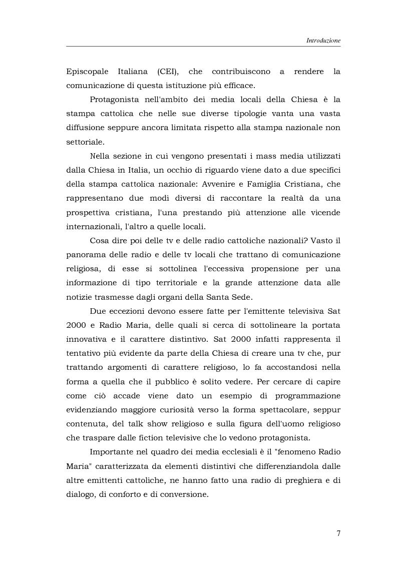Anteprima della tesi: I media della Chiesa italiana, Pagina 4