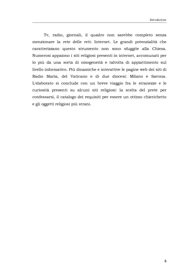 Anteprima della tesi: I media della Chiesa italiana, Pagina 5