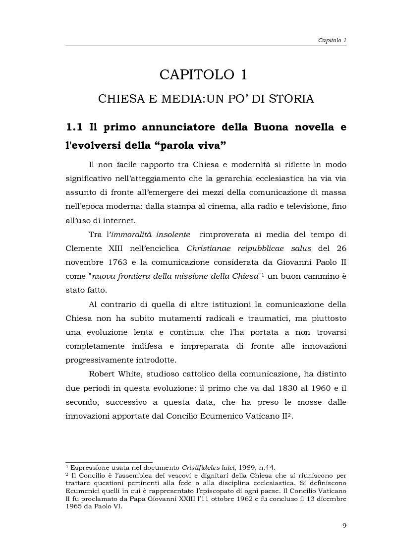 Anteprima della tesi: I media della Chiesa italiana, Pagina 6