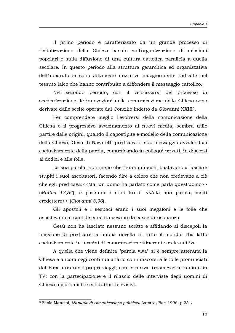 Anteprima della tesi: I media della Chiesa italiana, Pagina 7
