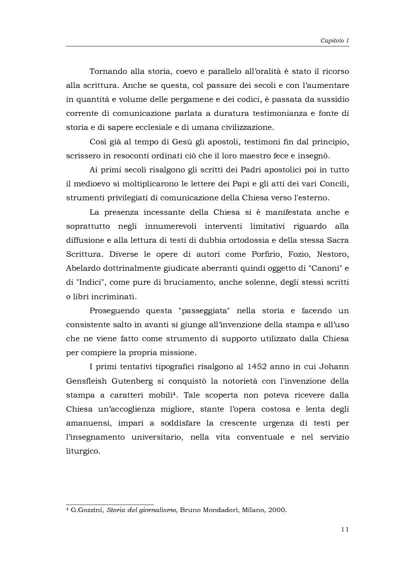 Anteprima della tesi: I media della Chiesa italiana, Pagina 8
