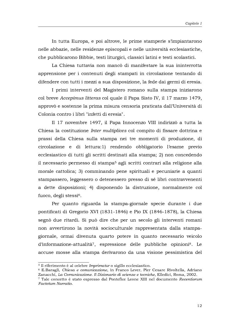 Anteprima della tesi: I media della Chiesa italiana, Pagina 9