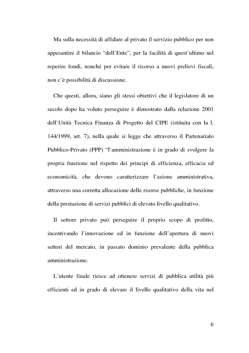 Anteprima della tesi: Il Finanziamento Privato delle infrastrutture pubbliche, Pagina 6