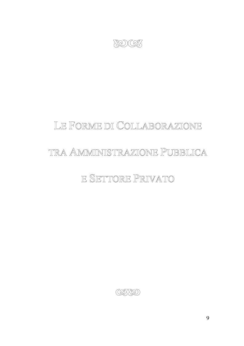 Anteprima della tesi: Il Finanziamento Privato delle infrastrutture pubbliche, Pagina 9