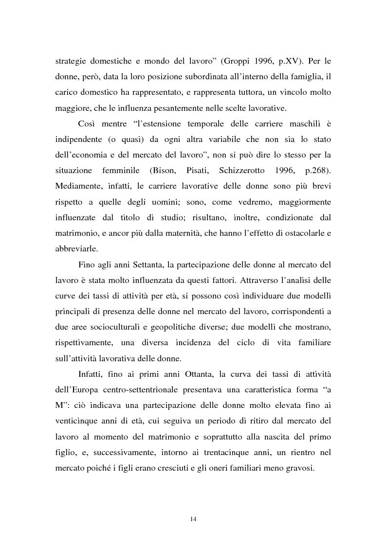 Anteprima della tesi: Donne in carriera e carriere di donne: il caso delle docenti universitarie, Pagina 10