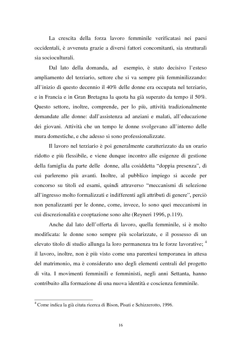 Anteprima della tesi: Donne in carriera e carriere di donne: il caso delle docenti universitarie, Pagina 12