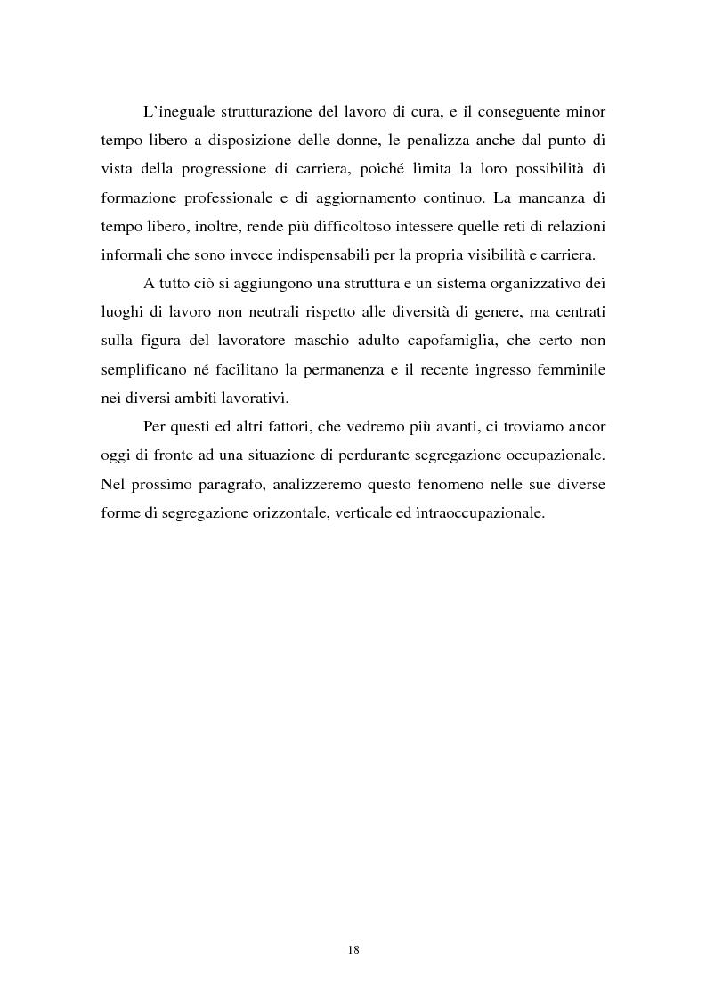 Anteprima della tesi: Donne in carriera e carriere di donne: il caso delle docenti universitarie, Pagina 14