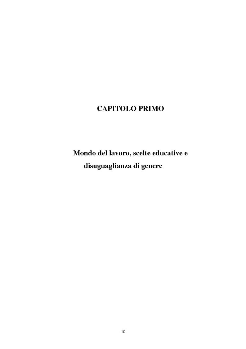 Anteprima della tesi: Donne in carriera e carriere di donne: il caso delle docenti universitarie, Pagina 6