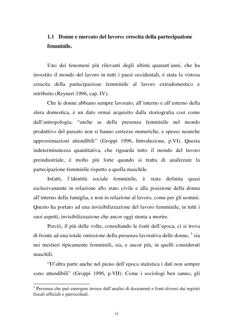 Anteprima della tesi: Donne in carriera e carriere di donne: il caso delle docenti universitarie, Pagina 7
