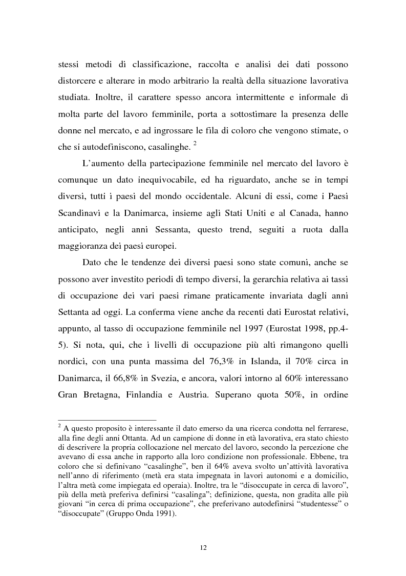 Anteprima della tesi: Donne in carriera e carriere di donne: il caso delle docenti universitarie, Pagina 8