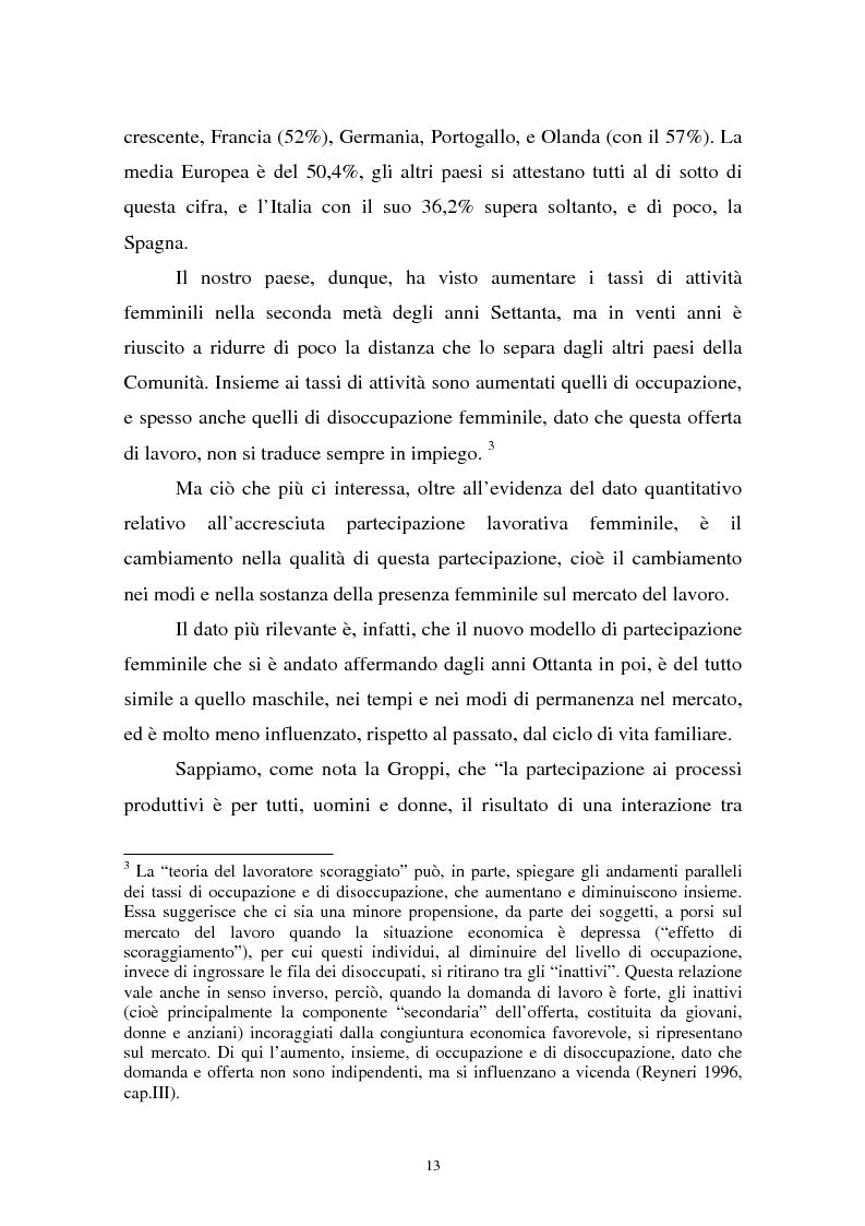 Anteprima della tesi: Donne in carriera e carriere di donne: il caso delle docenti universitarie, Pagina 9
