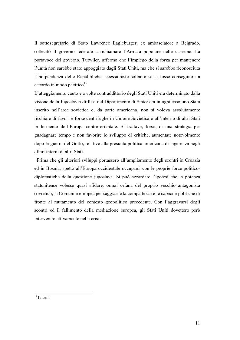Anteprima della tesi: La secessione slovena, l'Italia e la Regione Friuli Venezia Giulia durante la crisi, Pagina 11