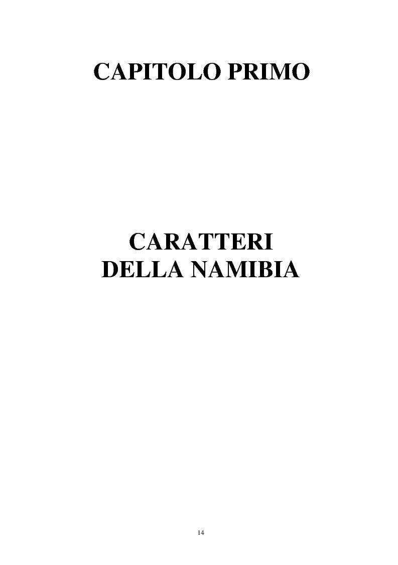 Anteprima della tesi: Namibia: ambiente naturale, sociale e turismo, Pagina 12