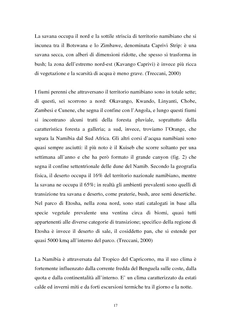 Anteprima della tesi: Namibia: ambiente naturale, sociale e turismo, Pagina 15
