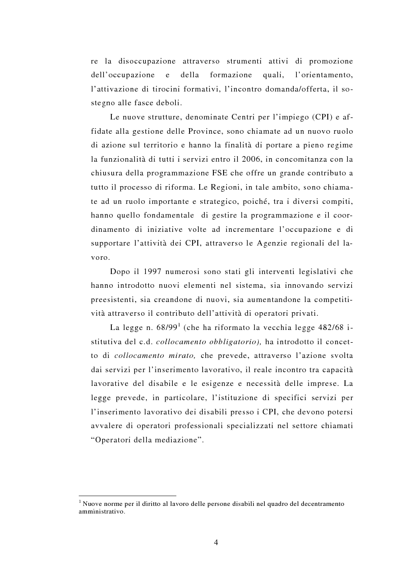 Anteprima della tesi: Le Agenzie per il lavoro nel Decreto Legislativo 276 del 2003, Pagina 4