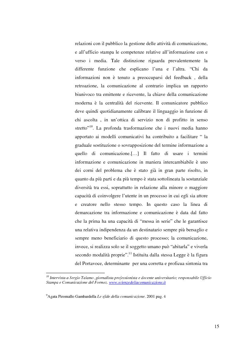 Anteprima della tesi: Strategie e normative per la formazione del comunicatore pubblico, Pagina 10