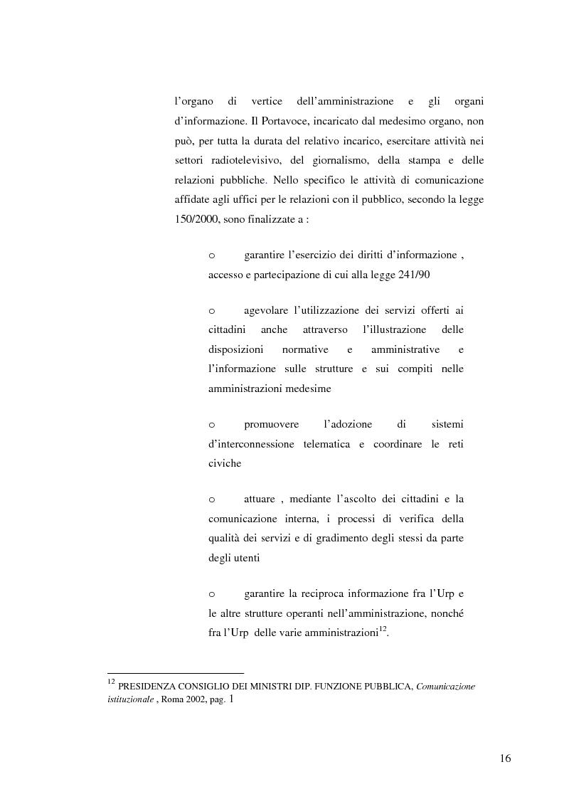 Anteprima della tesi: Strategie e normative per la formazione del comunicatore pubblico, Pagina 11