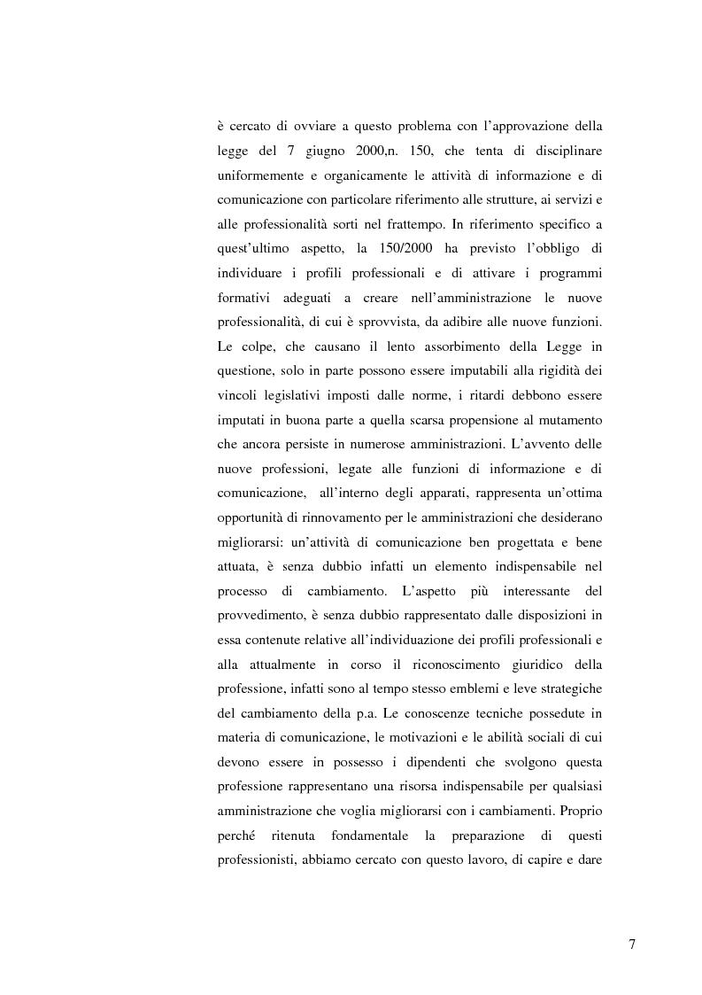 Anteprima della tesi: Strategie e normative per la formazione del comunicatore pubblico, Pagina 2