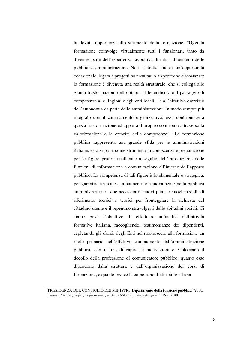 Anteprima della tesi: Strategie e normative per la formazione del comunicatore pubblico, Pagina 3