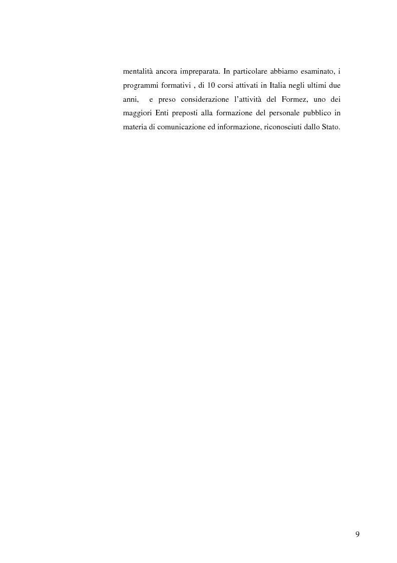 Anteprima della tesi: Strategie e normative per la formazione del comunicatore pubblico, Pagina 4