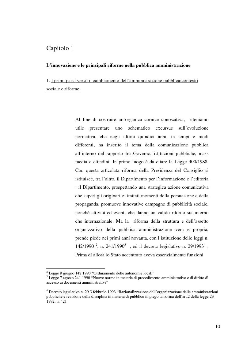 Anteprima della tesi: Strategie e normative per la formazione del comunicatore pubblico, Pagina 5