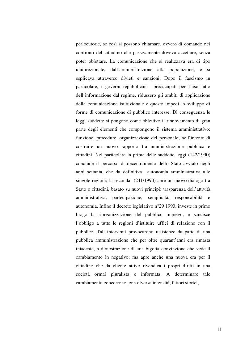 Anteprima della tesi: Strategie e normative per la formazione del comunicatore pubblico, Pagina 6