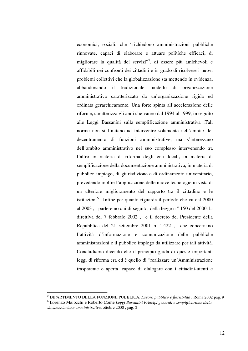 Anteprima della tesi: Strategie e normative per la formazione del comunicatore pubblico, Pagina 7