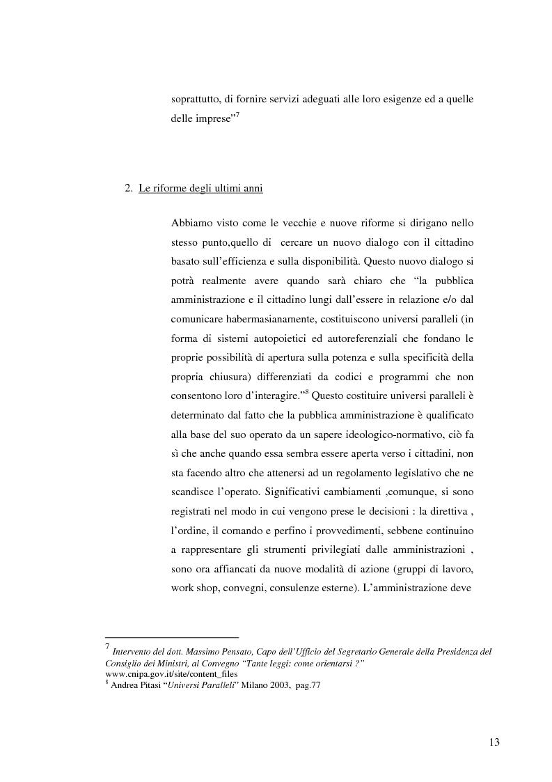 Anteprima della tesi: Strategie e normative per la formazione del comunicatore pubblico, Pagina 8