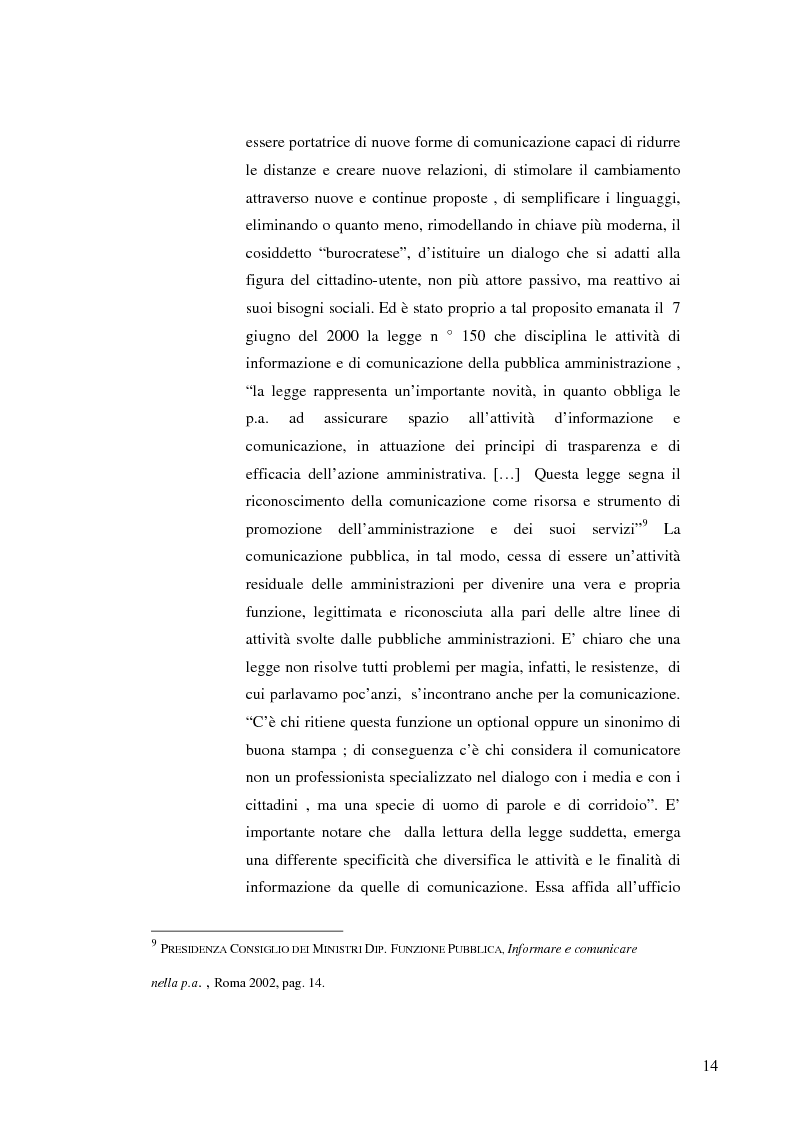 Anteprima della tesi: Strategie e normative per la formazione del comunicatore pubblico, Pagina 9