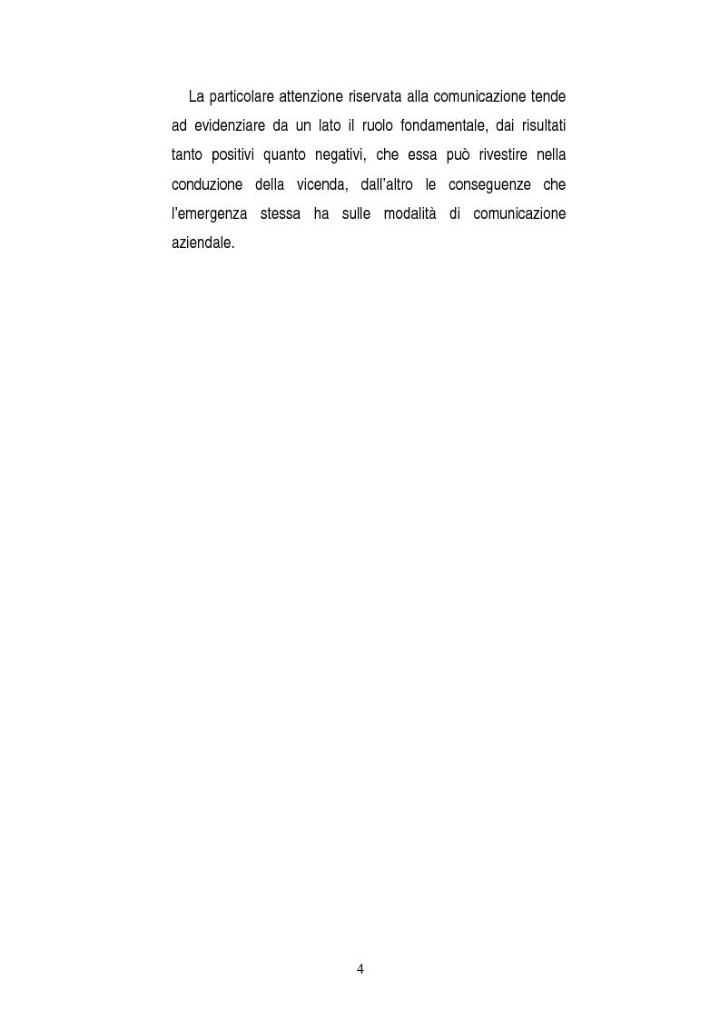 Anteprima della tesi: Una opportunità chiamata crisi. Il caso Mercedes Classe A., Pagina 2