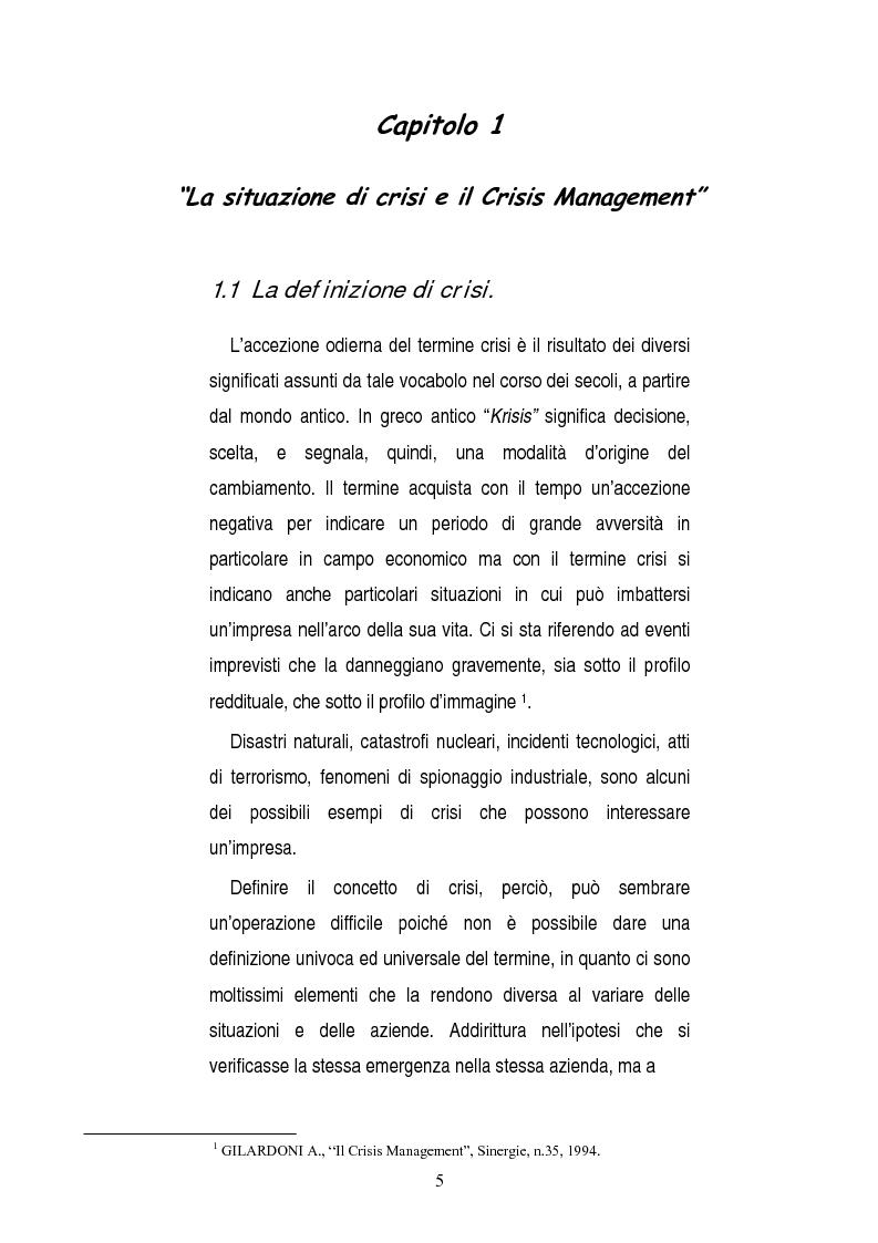 Anteprima della tesi: Una opportunità chiamata crisi. Il caso Mercedes Classe A., Pagina 3