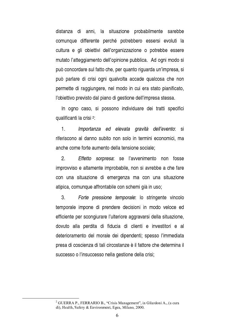 Anteprima della tesi: Una opportunità chiamata crisi. Il caso Mercedes Classe A., Pagina 4
