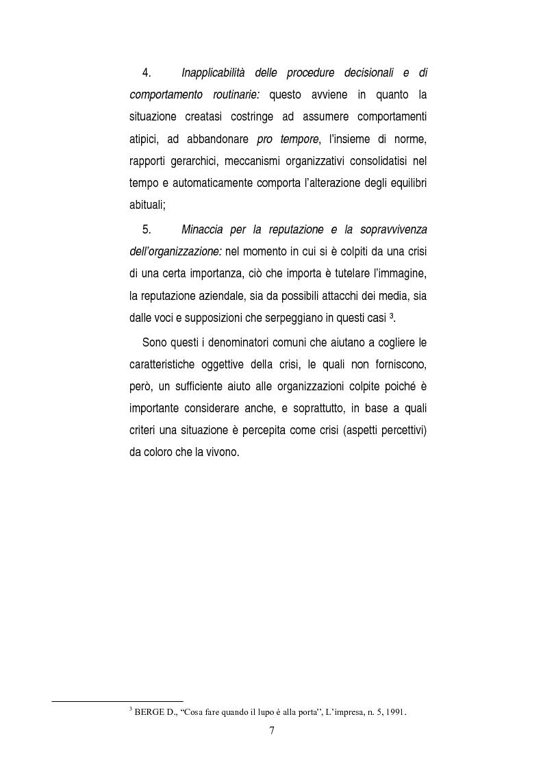Anteprima della tesi: Una opportunità chiamata crisi. Il caso Mercedes Classe A., Pagina 5