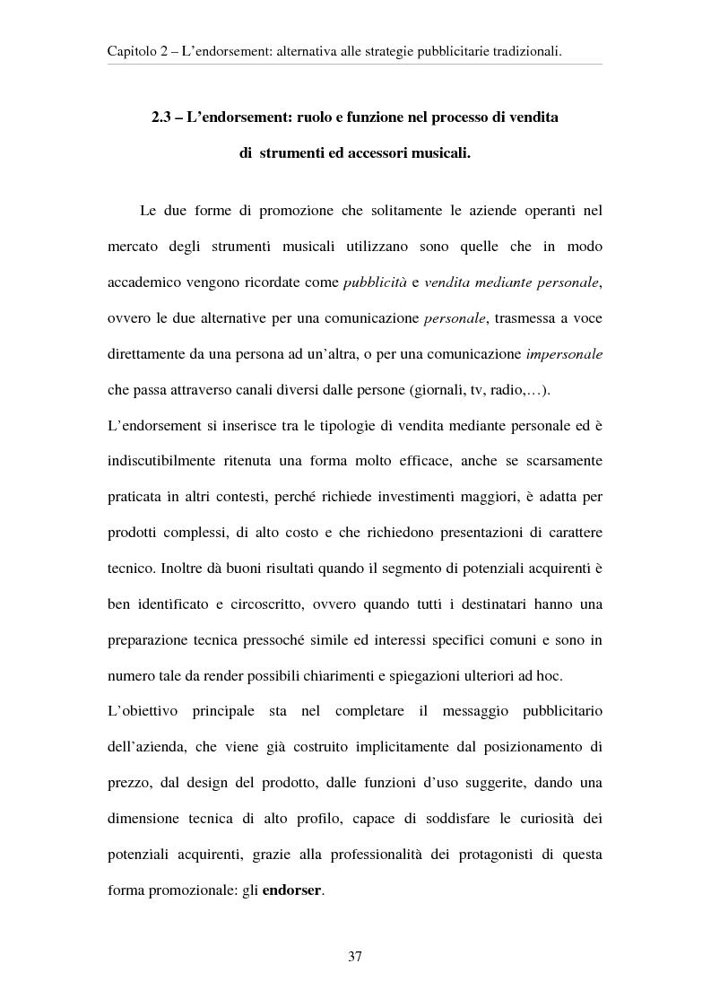 Anteprima della tesi: L'evoluzione del ruolo del testimonial nel mercato degli strumenti musicali: il caso degli Endorsers, Pagina 5