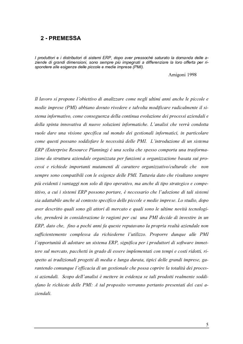 Anteprima della tesi: Sistemi gestionali e.r.p. per le piccole e medie imprese e le aree innovative, Pagina 1