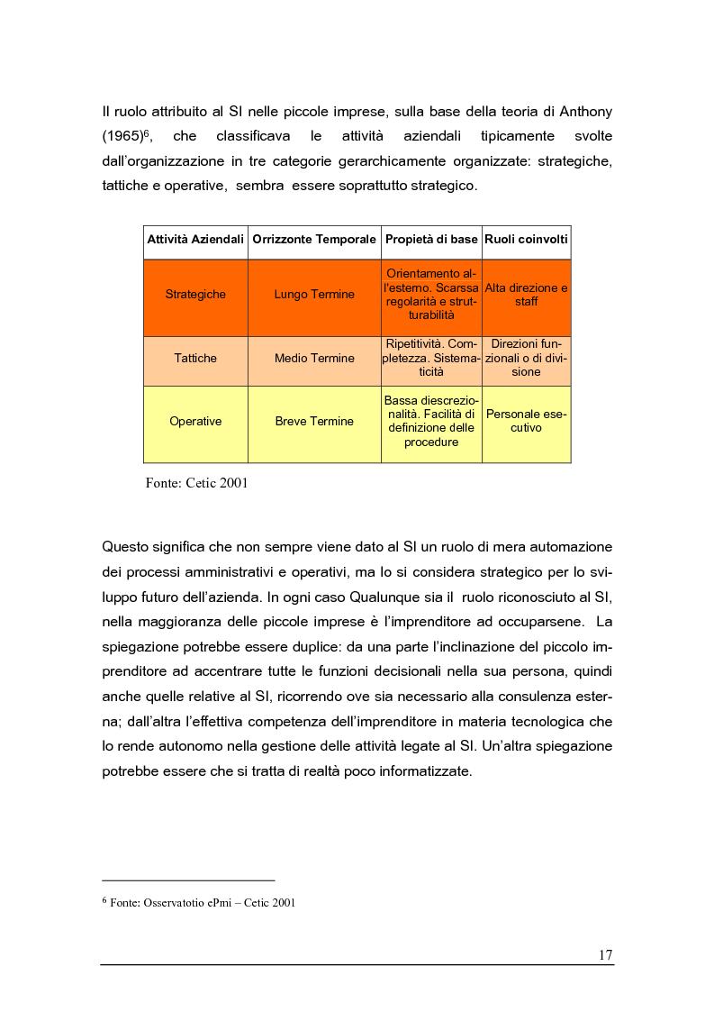 Anteprima della tesi: Sistemi gestionali e.r.p. per le piccole e medie imprese e le aree innovative, Pagina 13