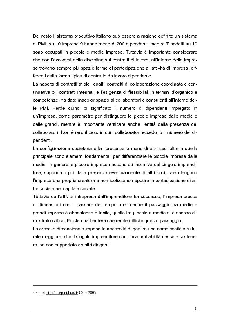Anteprima della tesi: Sistemi gestionali e.r.p. per le piccole e medie imprese e le aree innovative, Pagina 6