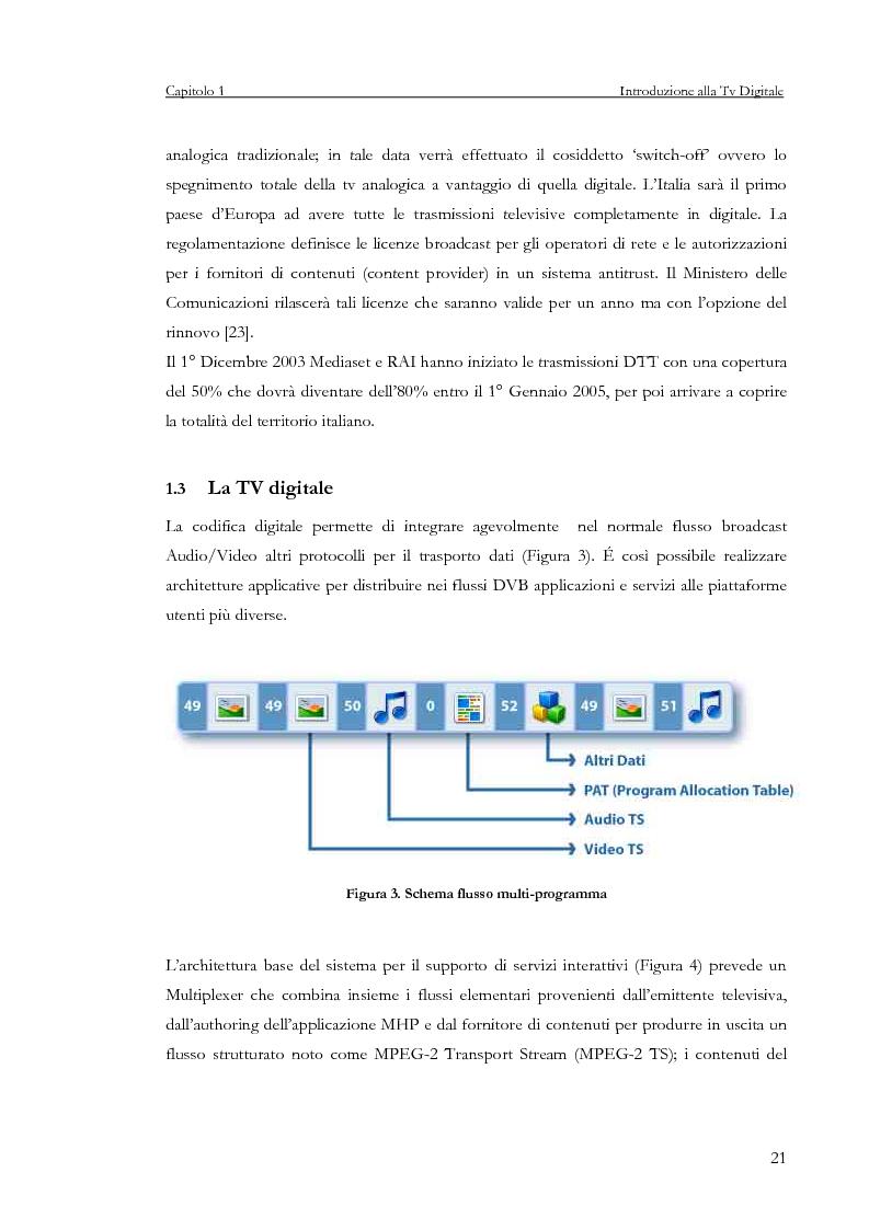 Anteprima della tesi: Sviluppo di un servizio di teleprenotazione eventi per Tv digitale su piattaforma DVB-MHP, Pagina 10